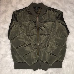 Jackets & Blazers - Forever 21 Army Green Bomber Jacket